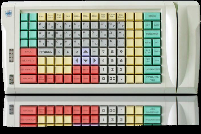 Клавиатура LPOS-II-128 серого цвета вид сверху