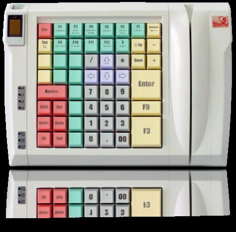 Клавиатура LPOS-II-064 со сканером отпечатков пальцев и считывателем карт