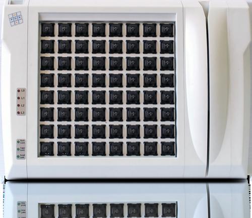 Клавиатура LPOS-II-064 серого цвета со считывателем магнитных карт без клавиш