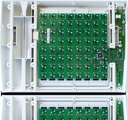Клавиатура LPOS-II-064 серого цвета вид со стороны печатной платы