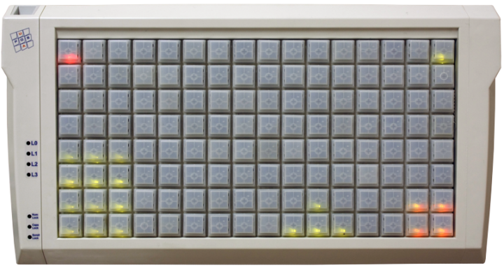 Клавиатура LPOS-II-129-RS485 LED серого цвета
