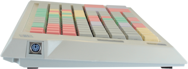 Клавиатура LPOS-II-128 серого цвета вид сбоку
