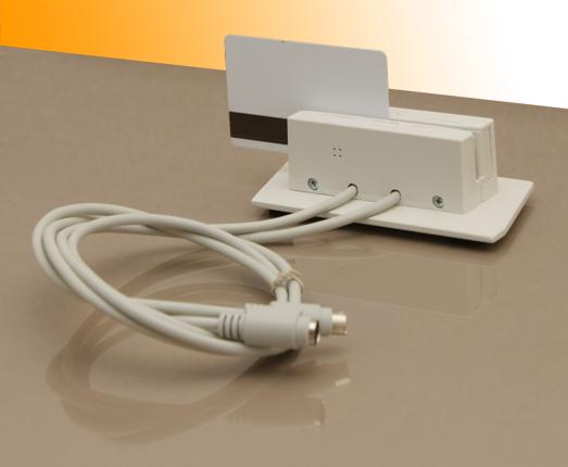 Считыватель карт MAG-II серого цвета с интерфейсом PS/2 и магнитной картой