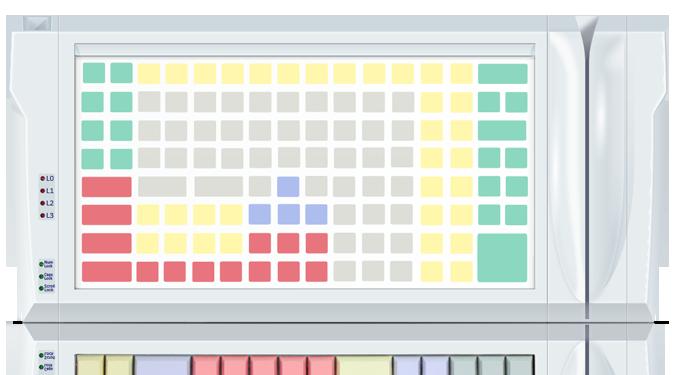Клавиатура защищенного типа LPOS-II-128P серого цвета со считывателем карт