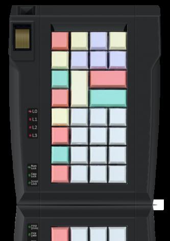 LPOS-32 keyboard with fingerprint scanner