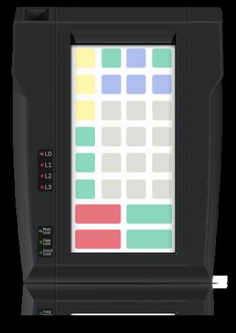 Защищенная клавиатура LPOS-II-032P чёрного цвета