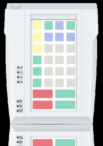 Защищенная клавиатура LPOS-II-032P серого цвета