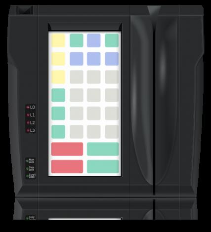 Защищенная клавиатура LPOS-II-032P чёрного цвета со считывателем магнитных карт
