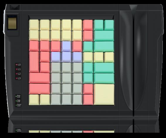 Клавиатура LPOS-II-64 со сканером отпечатков пальцев и считывателем карт