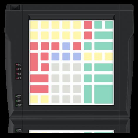 Клавиатура защищенного типа LPOS-II-064P чёрного цвета