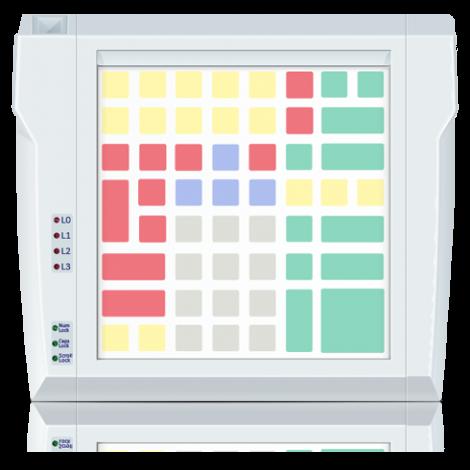 Клавиатура защищённого типа LPOS-II-064P серого цвета