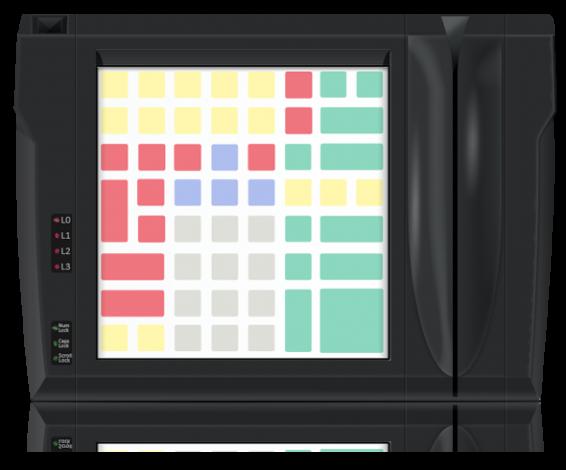 Клавиатура защищенного типа LPOS-II-064P чёрного цвета со считывателем карт