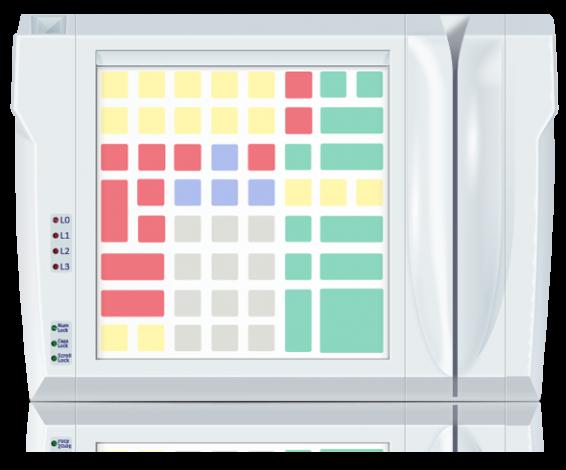 Клавиатура LPOS-064P со считывателем магнитных карт
