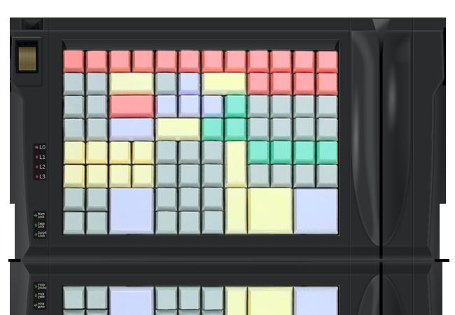 LPOS-96 keyboard w/ magnetic stripe reader and fingerprint scanner