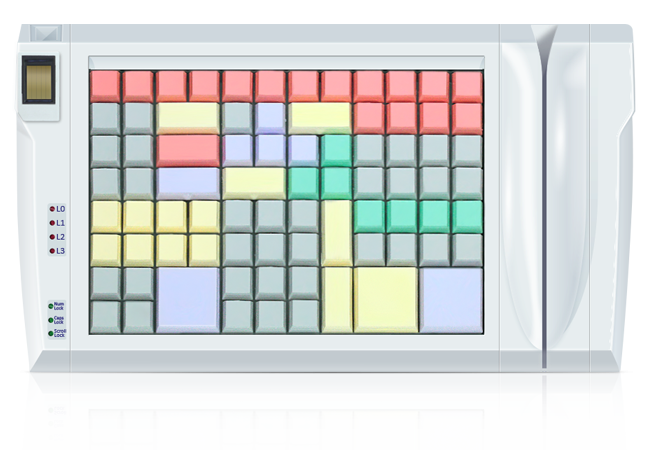 Клавиатура LPOS-II-96 со сканером отпечатков пальцев и считывателем карт